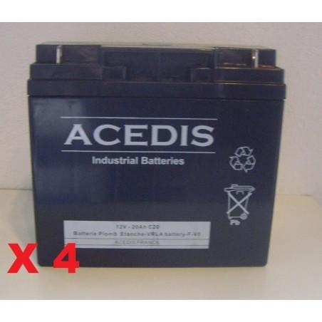 Batterie pour onduleur APC  SMART-UPS SU1300RMXLINET RBC11 (1618)