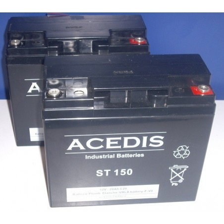 Quick-Step LT Praticomfort Scooter Electriquet Batterie 12V (1640)