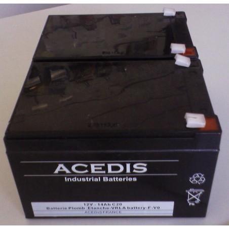 Pack Batterie pour Drive Phantom (S35001/S35002) 2X12V pour Scooter de Mobilité Electrique (1658)