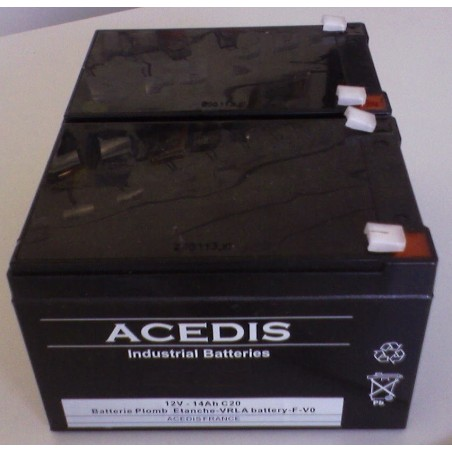 Pack Batterie pour Drive Phantom (S35001/S35002) 2X12V pour Scooter de Mobilité Electrique (1671)