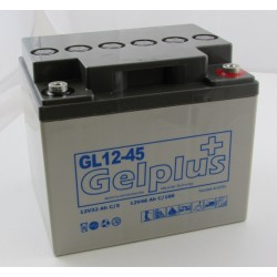 Batteries au plomb GEL étanches VRLA GL12-45 12V 46.5Ah