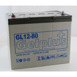 Batteries au plomb GEL étanches VRLA GL12-80 12V 70Ah (2054)