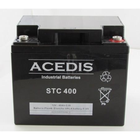 Batterie étanche  AGM ACEDIS STC400 12V 40Ah bac abs UL94 (2066)