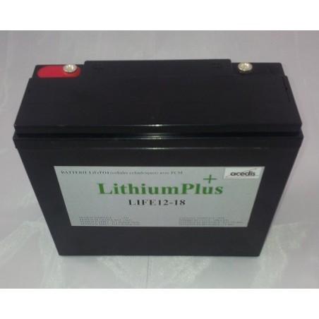 Batterie Lithium Fer Phosphate ACEDIS LIFE12-18 12V 19,2Ah (2073)