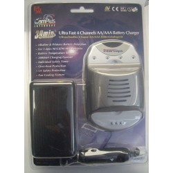 CHARGEUR 230V / 12V POUR 1 A 4 ACCU NICD/NIMH R03 ULTRA-RAPIDE MW3279 (2135),CHARGEUR 230V / 12V POUR 1 A 4 ACCU NICD/NIMH R03 U