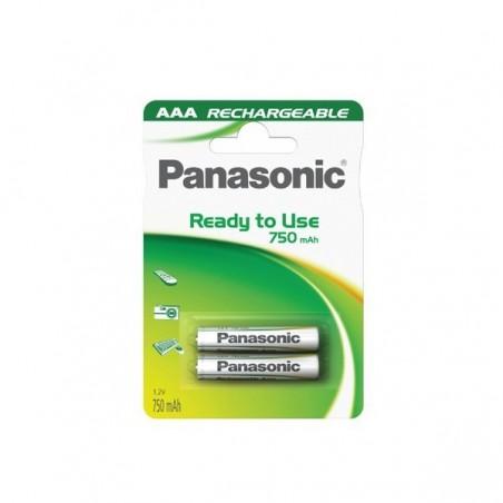 Accus AAA Nimh Blister X 2 Ready to use Panasonic 1,2V 750mAH (241)