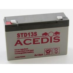 Batterie peg perego 6V 13AH  plomb étanche AGM ACDIS STD13S (2612),Batterie peg perego 6V 13AH  plomb étanche AGM ACDIS STD13S (