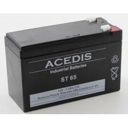 Batterie  AGM étanche Monte Escalier  ACEDIS ST65 12V 7,2Ah T1 (2619)