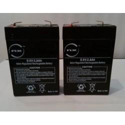 Batterie Scooter de Mer Seadoo AquaMate ZS4E 2.8AH 12V (2 Batteries de 6V) (2633)
