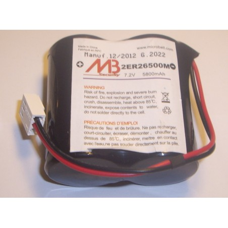 Batterie systeme alarme BATLI06 MB 7.2V 6.5Ah (287)