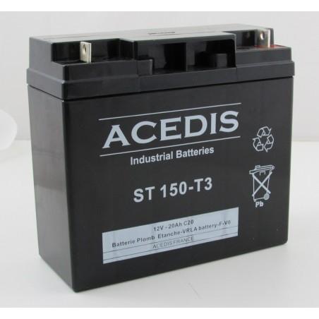 Batterie Plomb AGM étanche 12V 18 Ah / ACD ST 150 T3  (3458)