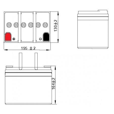 Batterie plomb GEL étanches VRLA ACEDIS GL12-35 12V 34.3Ah  - 2