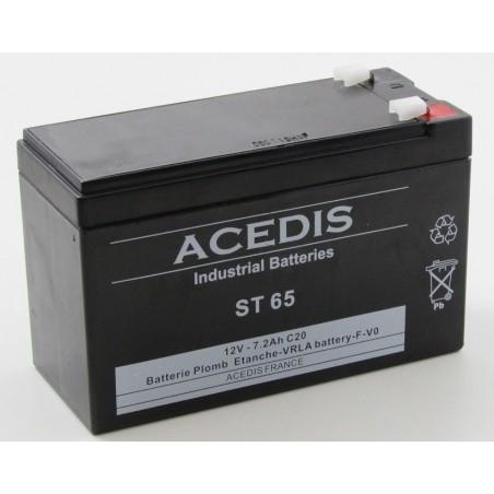 Batterie plomb étanche AGM ACEDIS ST65 12V 7,2Ah T1 (2004)