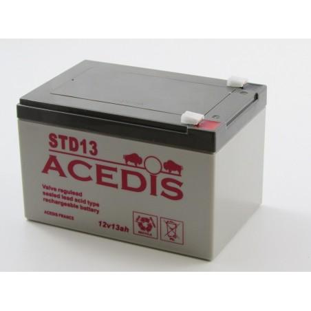 Batterie plomb étanche AGM ACEDIS  STD13 12V 13,3Ah T2 (2008)