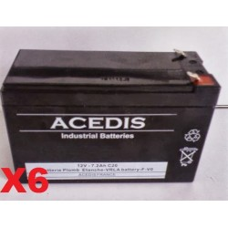 Pack Batterie 12v pour onduleur DELL Smart-ups 700 DL700I (1812)