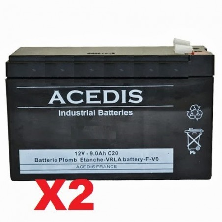 RBC123 Batterie remplacement pour onduleur APC 12V 9AH (947)