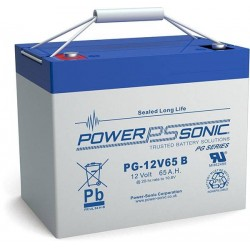 Batterie AGM Power Sonic 12V 65Ah C20 / PG-12V65