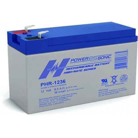 Batterie AGM Power Sonic 12V 8,5Ah C20 / PHR-1236-FR