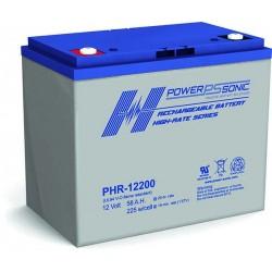 Batterie AGM Power Sonic 12V 58Ah C20 / PHR-12200-FR