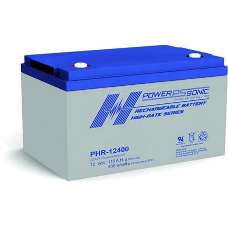 Batterie AGM Power Sonic 12V 110Ah C20 / PHR-12400-FR