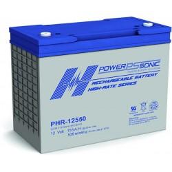 Batterie AGM Power Sonic 12V 155Ah C20 / PHR-12550-FR