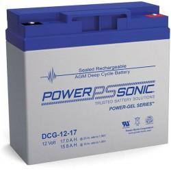 Batterie GEL Power Sonic 12V 17Ah C20 / DCG12-17
