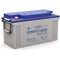 Batterie GEL Power Sonic 12V 110Ah C20 / DCG12-110