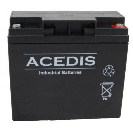 Batterie Lithium fer phosphate (LIFEPO4) ACEDIS 12V 16,5Ah C20 / LIFE12-16,5