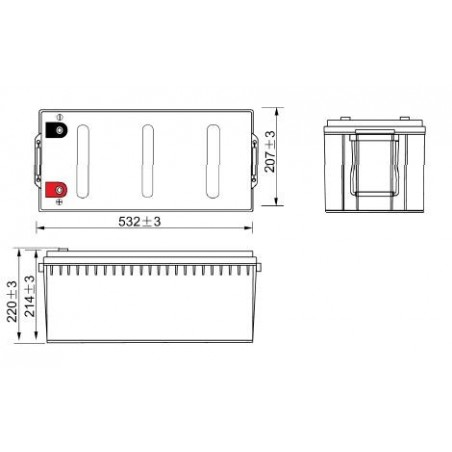 Batterie Lithium fer phosphate (LIFEPO4) ACEDIS 12V 178,2Ah C20 / LIFE12-178,2