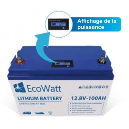 Batterie lithium LIFEP04 Li-Ion 12v 100ah ecowatt controleur de charge
